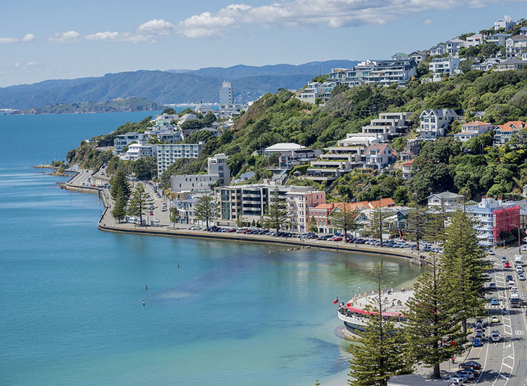 Oriental Bay à Wellington